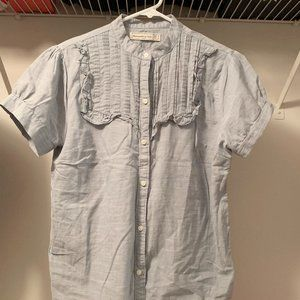 A&F light blue blouse